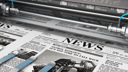 Newspaper being printed
